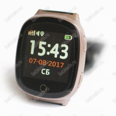 Часы телефон с gps трекером и пульсометром EW100S Wonlex розовое золото