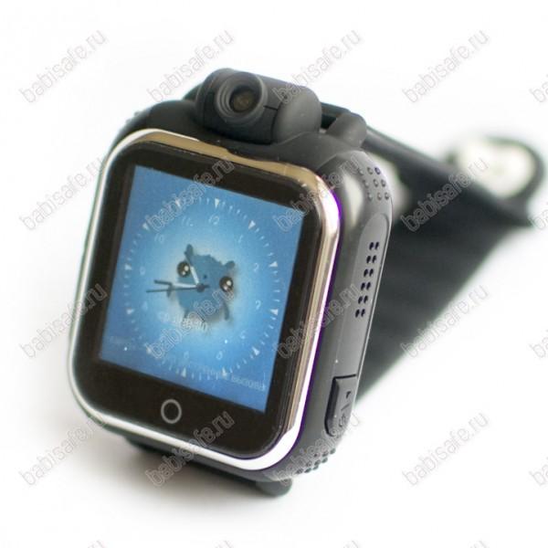 Детские часы телефон с gps трекером GW1000 Wonlex черные