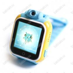 Детские часы телефон с gps трекером GW1000 Wonlex голубые