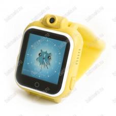 Детские часы телефон с gps трекером GW1000 Wonlex желтые