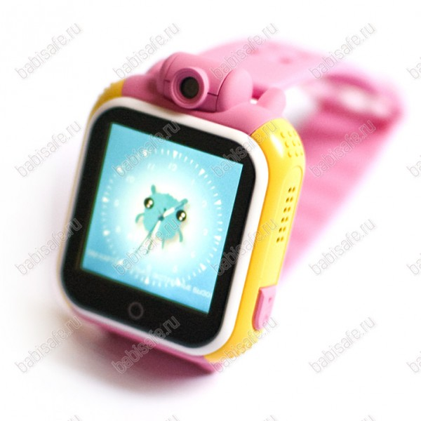 Детские часы телефон с gps трекером GW1000 Wonlex розовые