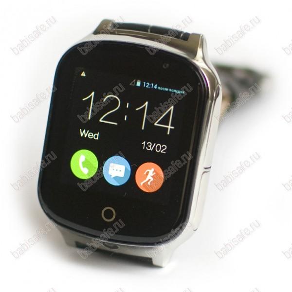 Часы телефон с gps трекером GW1000S Wonlex серебристые