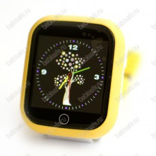 Детские часы телефон с gps трекером GW200S желтые