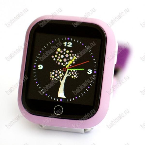 Детские часы телефон с gps трекером GW200S розовые
