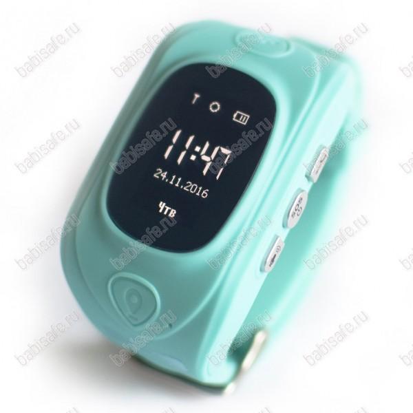Детские часы телефон с gps трекером GW300 Smart baby watch голубые