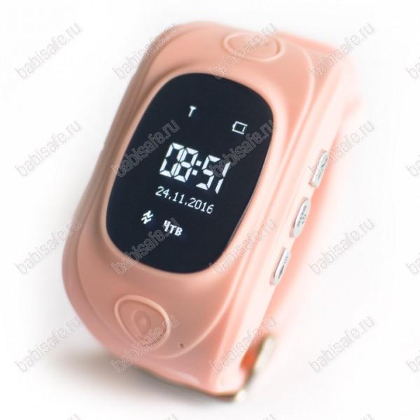 Детские часы телефон с gps трекером GW300 Smart baby watch розовые