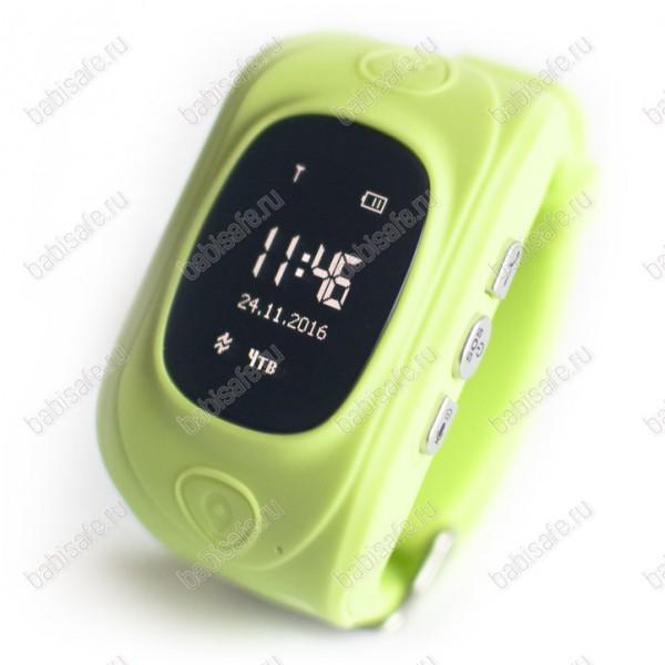 Детские часы телефон с gps трекером GW300 Smart baby watch зеленые