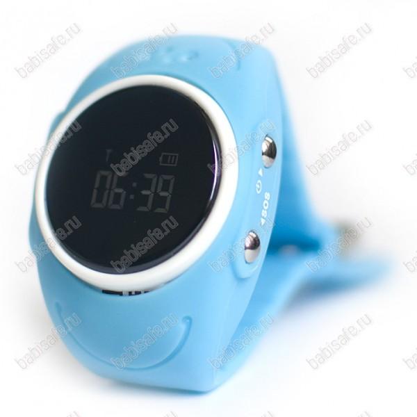 Детские влагостойкие часы телефон с gps трекером GW300S голубые