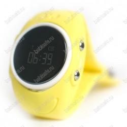 Детские влагостойкие часы телефон с gps трекером GW300S желтые