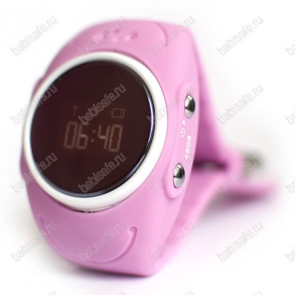 Детские влагостойкие часы телефон с gps трекером GW300S розовые