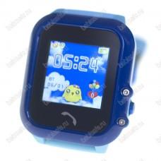 Детские водостойкие часы телефон с gps трекером GW400E голубые
