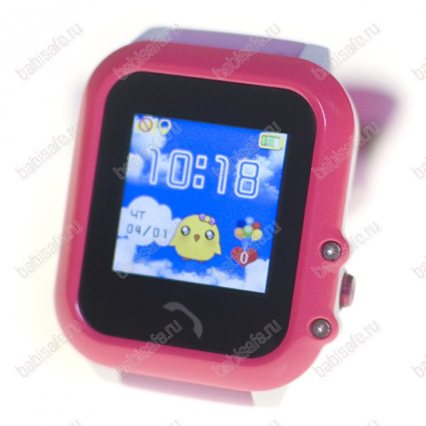 Детские водостойкие часы телефон с gps трекером GW400E розовые