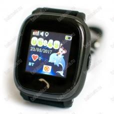 Детские водостойкие часы телефон с gps трекером GW400S черные