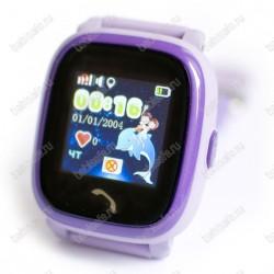 Детские водостойкие часы телефон с gps трекером GW400S фиолетовые