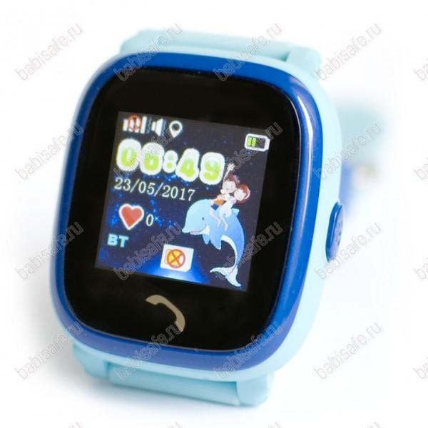 Детские влагостойкие часы телефон с gps трекером GW400S голубые