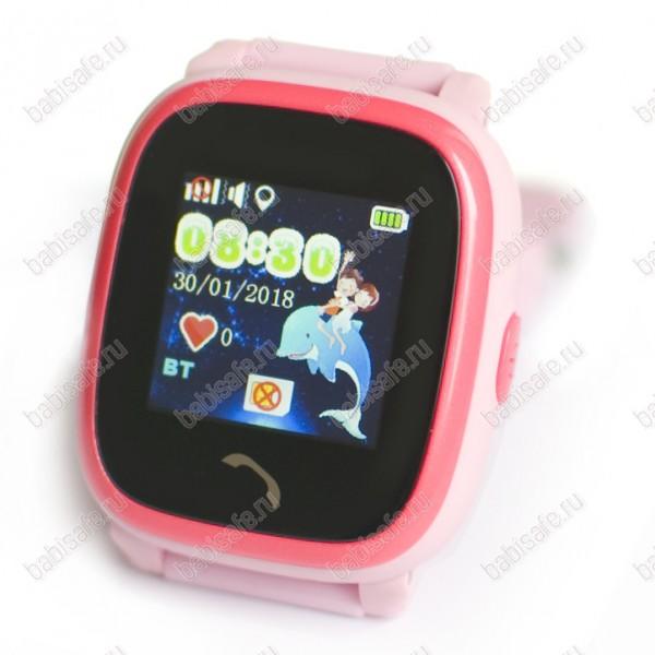 Детские водостойкие часы телефон с gps трекером GW400S розовые