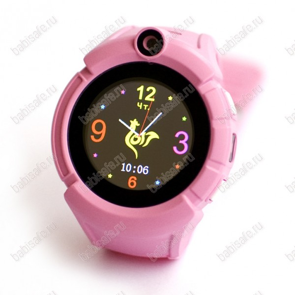 Детские часы телефон с gps трекером GW600 Wonlex Smart baby watch Q360 розовые
