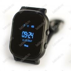 Детские часы телефон с gps трекером GW700 Wonlex Smart baby watch T58 черные
