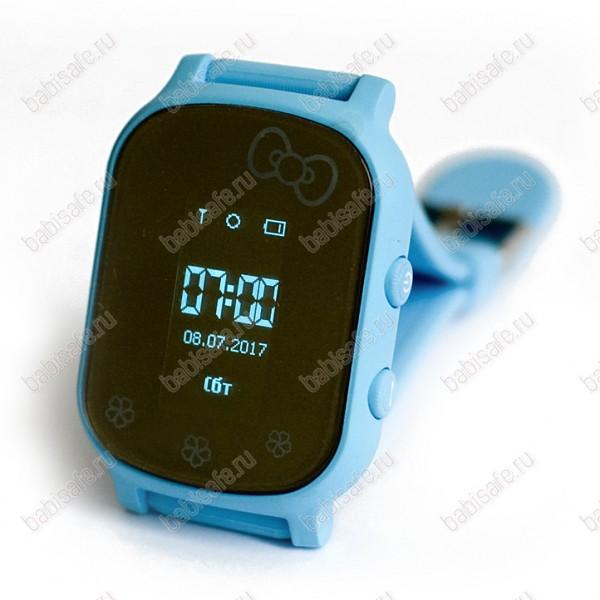 Детские часы телефон с gps трекером GW700 Wonlex Smart baby watch T58 голубые