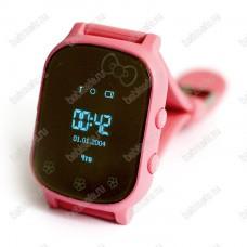 Детские часы телефон с gps трекером GW700 Wonlex Smart baby watch T58 розовые