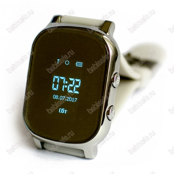 Детские часы телефон с gps трекером GW700 Wonlex Smart baby watch T58 серебристые