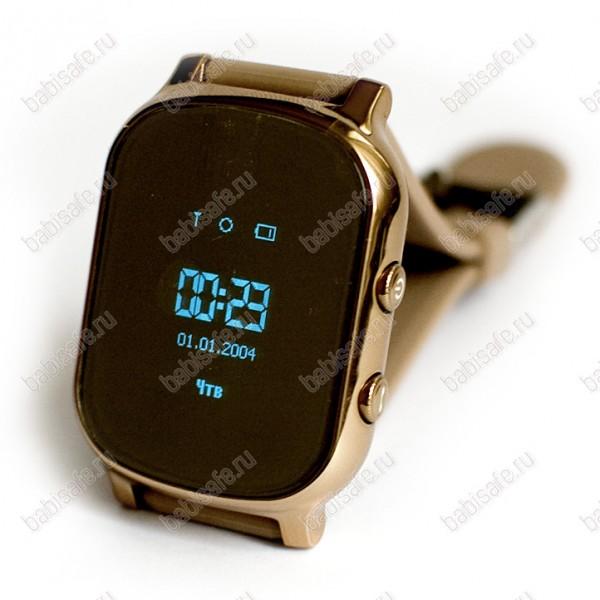 Детские часы телефон с gps трекером GW700 Wonlex Smart baby watch T58 золотые