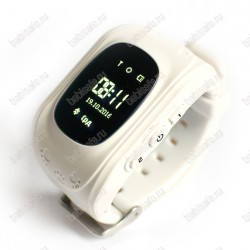 Детские часы телефон с gps трекером Q50 Smart baby watch белые