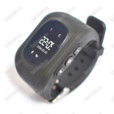 Детские часы телефон с gps трекером Q50 Smart baby watch черные