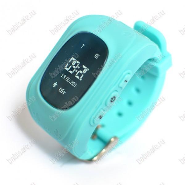 Детские часы телефон с gps трекером Q50 Smart baby watch голубые