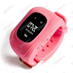 Детские часы телефон с gps трекером Q50 Smart baby watch розовые