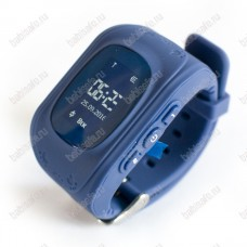 Детские часы телефон с gps трекером Q50 Smart baby watch синие