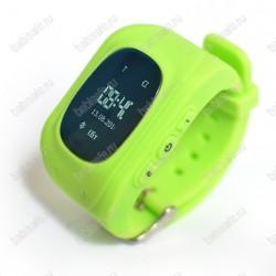 Детские часы телефон с gps трекером Q50 Smart baby watch зеленые