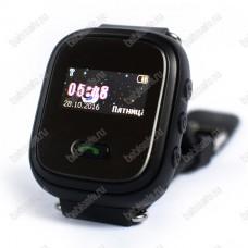 Детские часы телефон с gps трекером GW900S Smart baby watch Q60 черные
