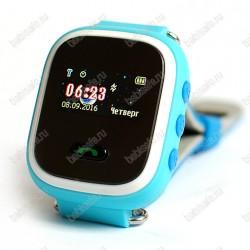 Детские часы телефон с gps трекером GW900S Smart baby watch Q60 голубые