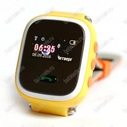 Детские часы телефон с gps трекером GW900S Smart baby watch Q60 желтые