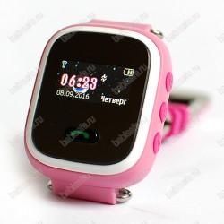Детские часы телефон с gps трекером GW900S Smart baby watch Q60 розовые