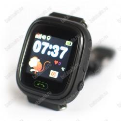 Детские часы телефон с gps трекером GW100 Smart baby watch Q80 черные