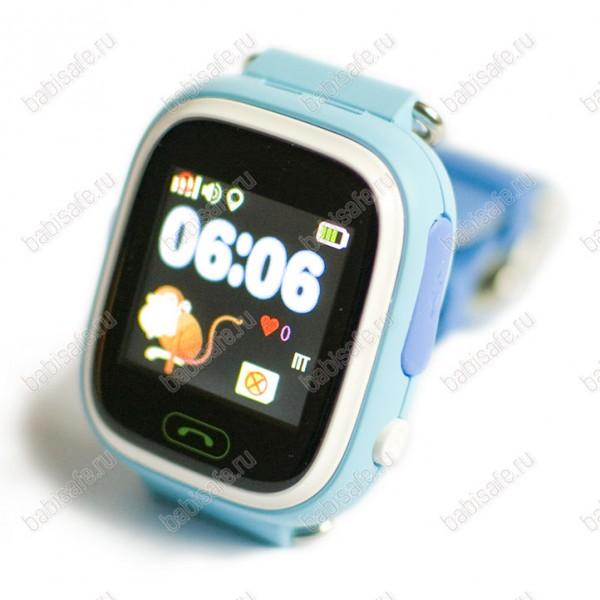 Детские часы телефон с gps трекером GW100 Smart baby watch Q80 голубые