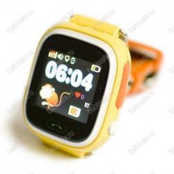 Детские часы телефон с gps трекером GW100 Smart baby watch Q80 желтые