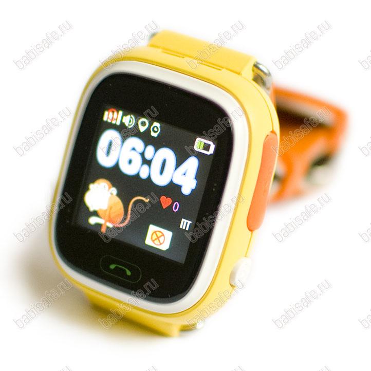 a7b37101 Детские часы телефон с gps трекером GW100 Smart baby watch Q80 желтые ...
