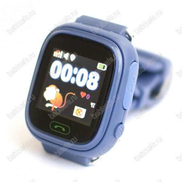 Детские часы телефон с gps трекером GW100 Smart baby watch Q80 синие