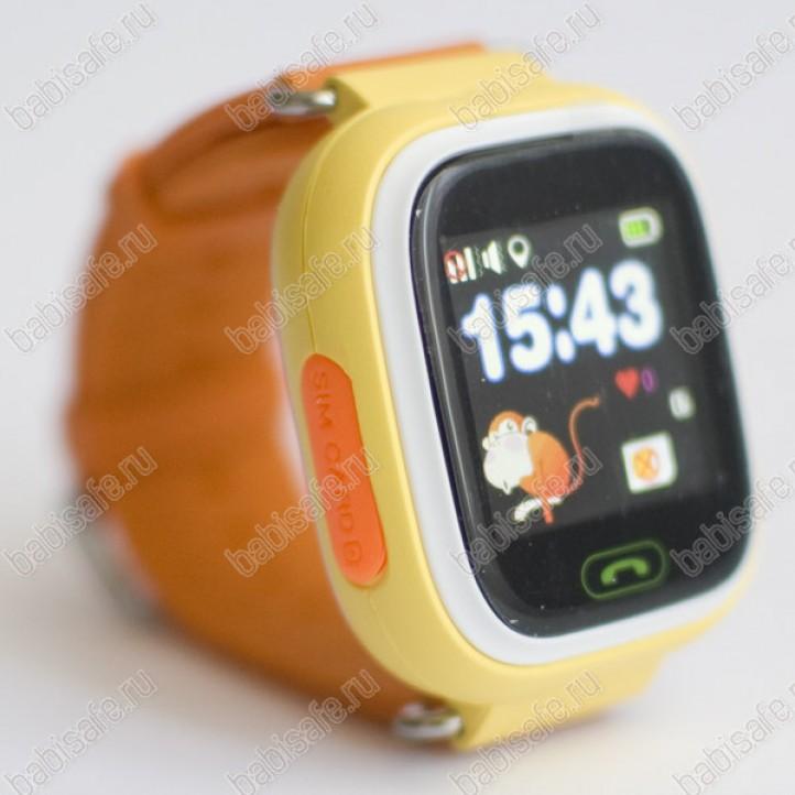 0d466c7e ... Детские часы телефон с gps трекером GW100 Smart baby watch Q80 желтые  ...