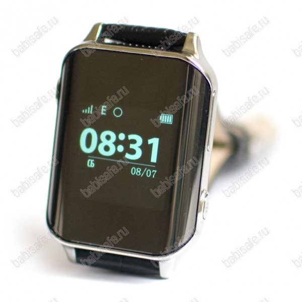 Часы телефон с gps трекером и пульсометром EW200 Wonlex серебристые