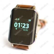 Часы телефон с gps трекером и пульсометром EW200 Wonlex золотые