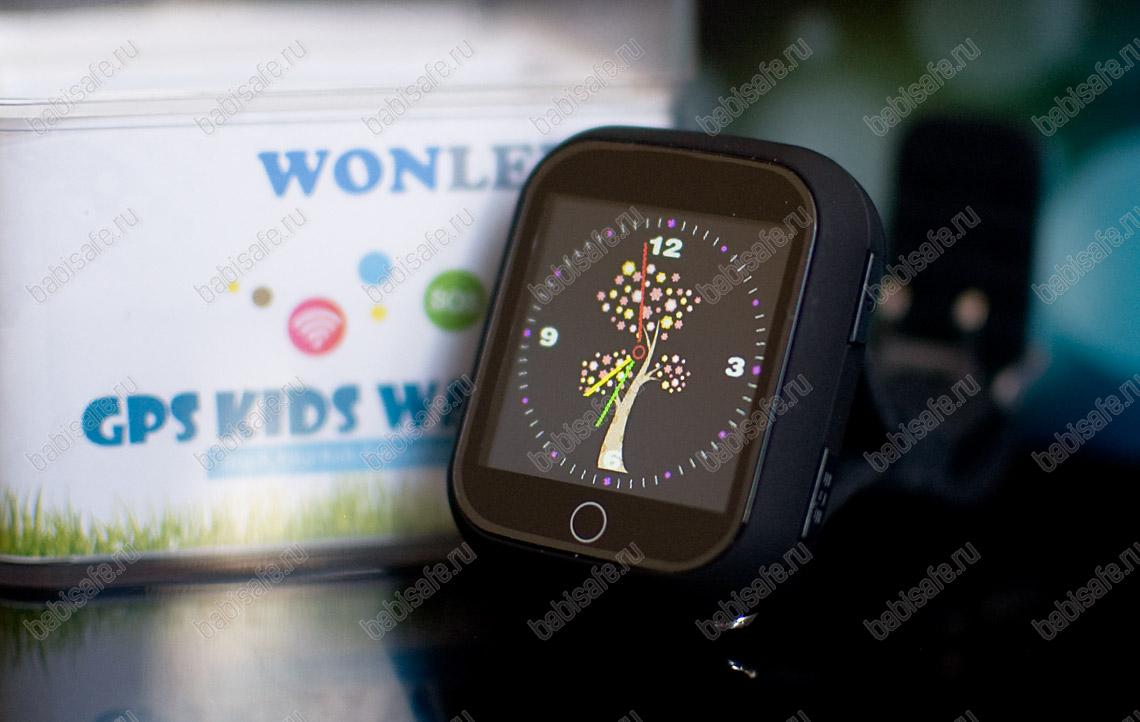 Детские часы телефон с gps трекером GW200S черные