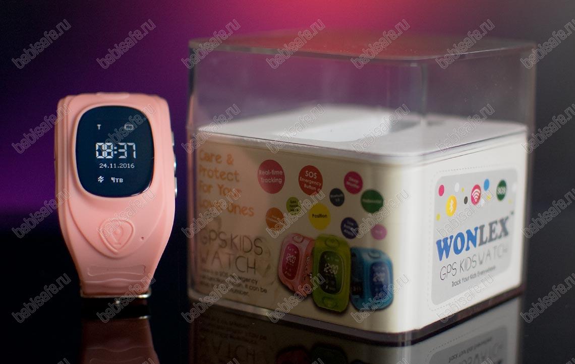 Детские часы Wonlex GW300 тройное позиционирование, розовые