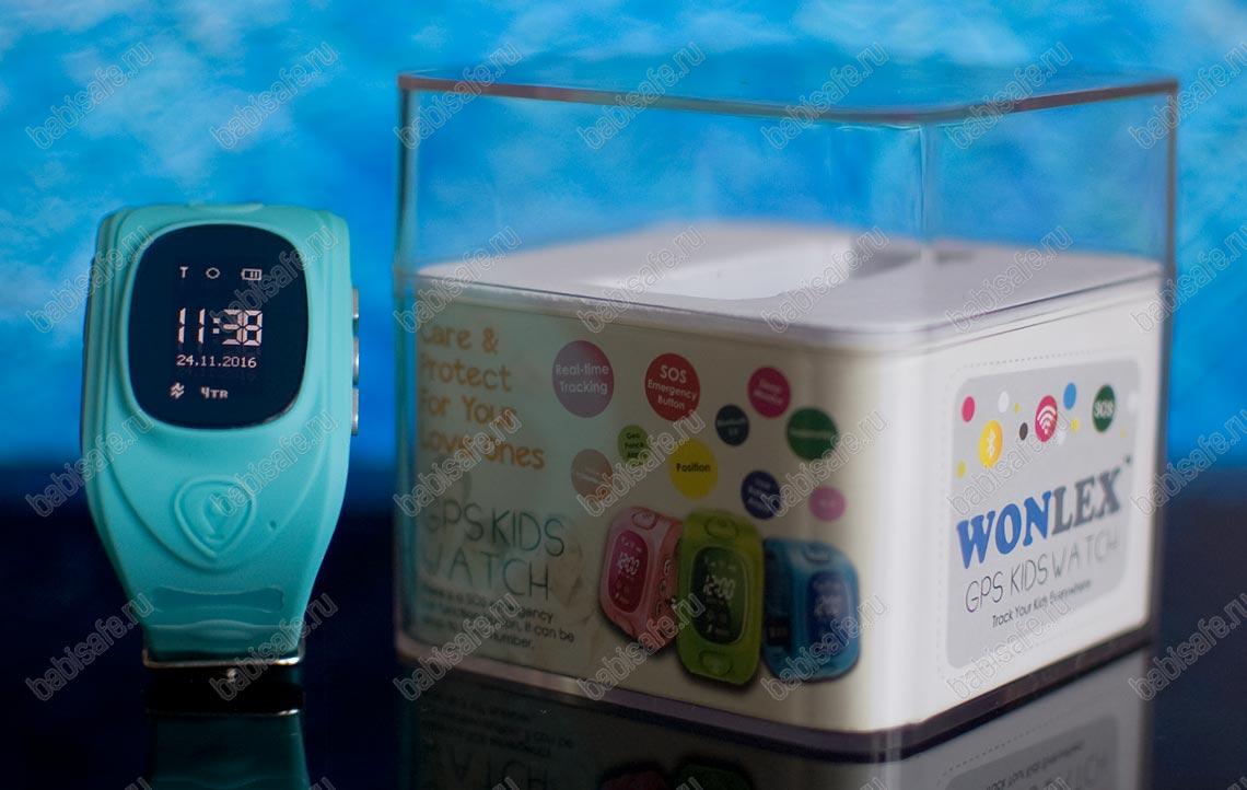 Детские часы Wonlex GW300 тройное позиционирование, голубые