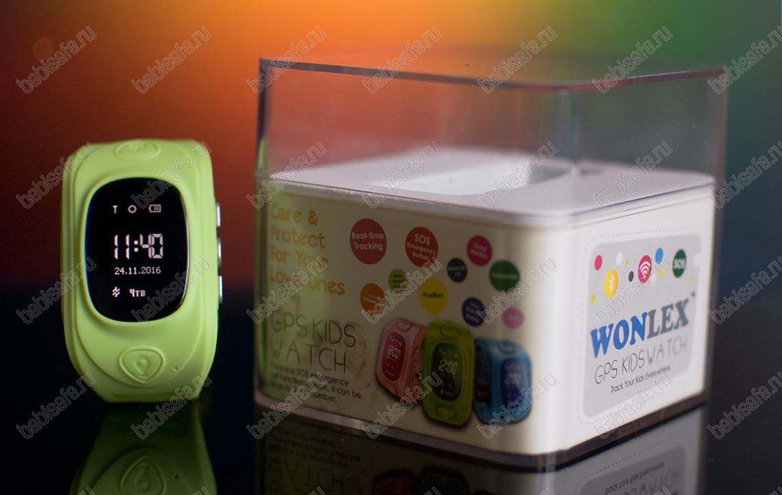 Детские часы Wonlex GW300 тройное позиционирование, зеленые