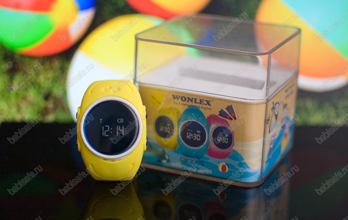 Детские водонепроницаемые часы Wonlex GW300S желтого цвета