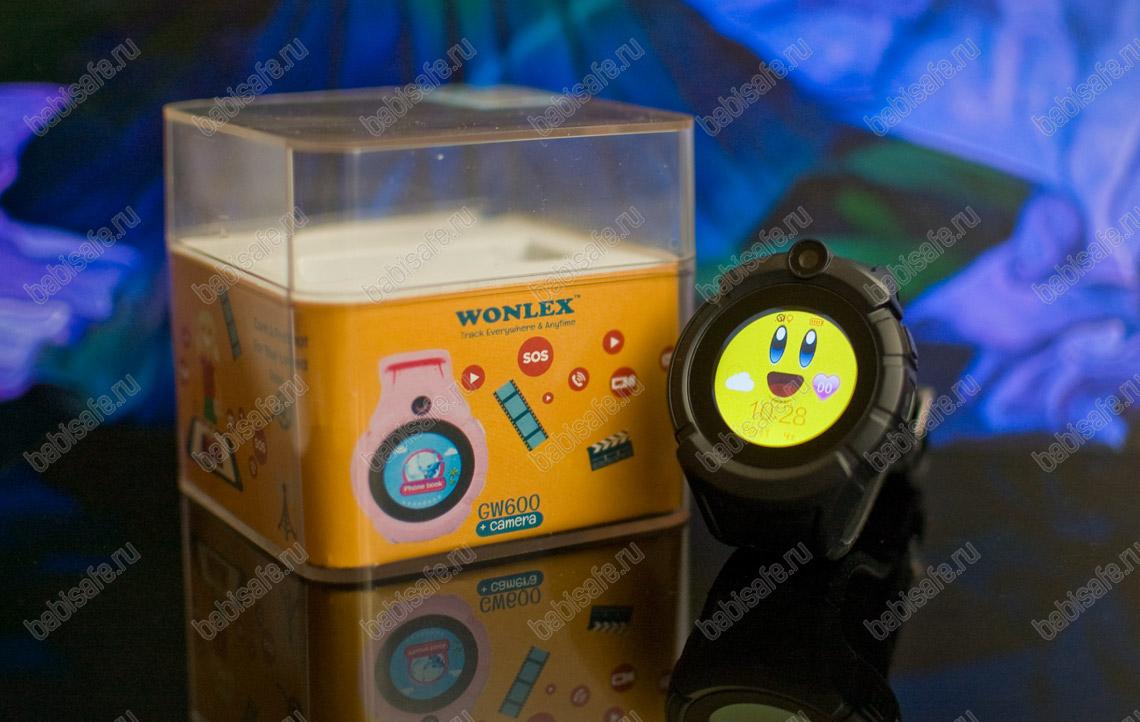 Детские часы телефон с gps трекером GW600, Q360 черные
